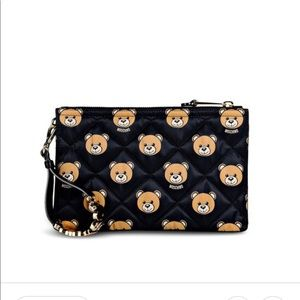 Moschino Teddy Bear Clutch Quilted Authentic